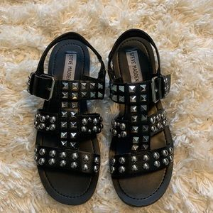 Steve Madden black studded sandals